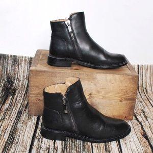 Franco Sarto Black Leather Booties Size 6.5M